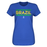 Brazil Copa America 2016 Women's Core T-Shirt (Royal)