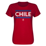 Chile Copa America 2016 Women's Core T-Shirt (Red)