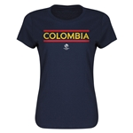 Colombia Copa America 2016 Women's Core T-Shirt (Navy)
