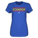 Ecuador Copa America 2016 Women's Core T-Shirt (Royal)