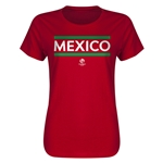 Mexico Copa America 2016 Women's Core T-Shirt (Red)