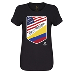 USA vs Colombia Copa America 2016 Women's Matchup T-Shirt (Black)