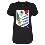 Mexico vs Uruguay Copa America 2016 Women's Matchup T-Shirt (Black)