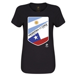 Argentina vs Chile Copa America 2016 Women's Matchup T-Shirt (Black)