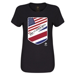 USA vs Costa Rica Copa America 2016 Women's Matchup T-Shirt (Black)