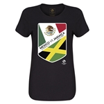 Mexico vs Jamaica Copa America 2016 Women's Matchup T-Shirt (Black)