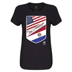 USA vs Paraguay Copa America 2016 Women's Matchup T-Shirt (Black)