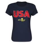USA CONCACAF Gold Cup 2015 Women's Big Logo T-Shirt (Navy)