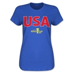 USA CONCACAF Gold Cup 2015 Women's Big Logo T-Shirt (Royal)
