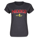 Mexico CONCACAF Gold Cup 2015 Women's Big Logo T-Shirt (Dark Grey)