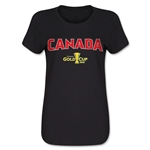 Canada CONCACAF Gold Cup 2015 Women's Big Logo T-Shirt (Black)