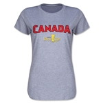 Canada CONCACAF Gold Cup 2015 Women's Big Logo T-Shirt (Grey)