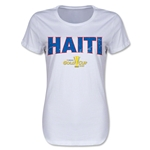 Haiti CONCACAF Gold Cup 2015 Women's Big Logo T-Shirt (White)