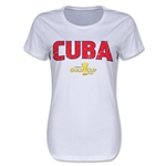Cuba CONCACAF Gold Cup 2015 Women's Big Logo T-Shirt (White)