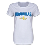 Honduras CONCACAF Gold Cup 2015 Women's Big Logo T-Shirt (White)