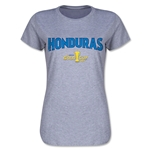 Honduras CONCACAF Gold Cup 2015 Women's Big Logo T-Shirt (Grey)