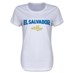 El Salvador CONCACAF Gold Cup 2015 Women's Big Logo T-Shirt (White)