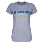 El Salvador CONCACAF Gold Cup 2015 Women's Big Logo T-Shirt (Grey)