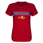 Panama CONCACAF Gold Cup 2015 Women's Big Logo T-Shirt (Red)