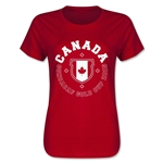 CONCACAF Gold Cup 2015 Canada Women's T-Shirt (Red)