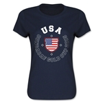 CONCACAF Gold Cup 2015 USA Women's T-Shirt (Navy)