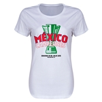 Mexico CONCACAF Gold Cup Celebration Women's T-Shirt (White)