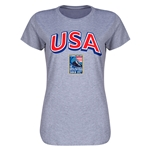 USA CONCACAF 2015 Men's Olympic Qualifying Women's T-Shirt (Gray)