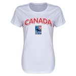 Canada CONCACAF 2015 Men's Olympic Qualifying Women's T-Shirt (White)