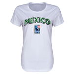 Mexico CONCACAF 2015 Men's Olympic Qualifying Women's T-Shirt (White)