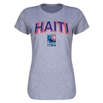 Haiti CONCACAF 2015 Men's Olympic Qualifying Women's T-Shirt (Gray)