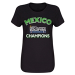 Mexico CONCACAF Men's Olympic Qualifying Champions Women's T-Shirt (Black)