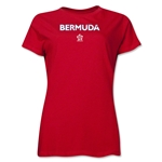 Bermuda CONCACAF Distressed Women's T-Shirt (Red)