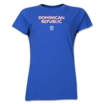 Dominican Republic CONCACAF Distressed Women's T-Shirt (Royal)