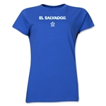 El Salvador CONCACAF Distressed Women's T-Shirt (Royal)