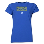 French Guiana CONCACAF Distressed Women's T-Shirt (Royal)