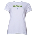 Guyana CONCACAF Distressed Women's T-Shirt (White)