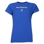Nicaragua CONCACAF Distressed Women's T-Shirt (Royal)
