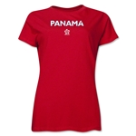 Panama CONCACAF Distressed Women's T-Shirt (Red)