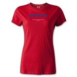 Paraguay FIFA Beach World Cup 2013 Women's T-Shirt (Red)