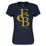 Barcelona Graphic Linked Women's T-Shirt (Navy)