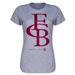 Barcelona Graphic Linked Women's T-Shirt (Gray)