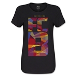 Barcelona Fractal Women's T-Shirt (Black)