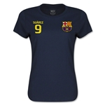 Barcelona Suarez Women's T-Shirt (Navy)
