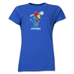 1998 FIFA World Cup Footix Mascot Women's T-Shirt (Royal)