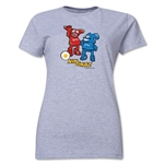 2002 FIFA World Cup Kaz & Nik Mascot Women's T-Shirt (Gray)