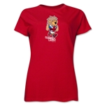 1966 FIFA World Cup Willie Mascot Women's T-Shirt (Red)