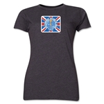1966 FIFA World Cup England Women's Historical Emblem T-Shirt (Dark Grey)