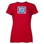 1966 FIFA World Cup England Women's Historical Emblem T-Shirt (Red)