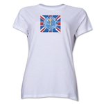 1966 FIFA World Cup England Women's Historical Emblem T-Shirt (White)
