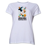 1934 FIFA World Cup Italy Women's Historical Emblem T-Shirt (White)